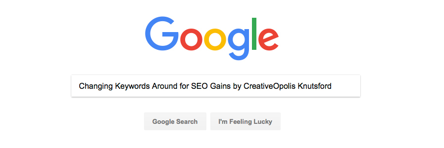 Changing Keywords Around for SEO Gains