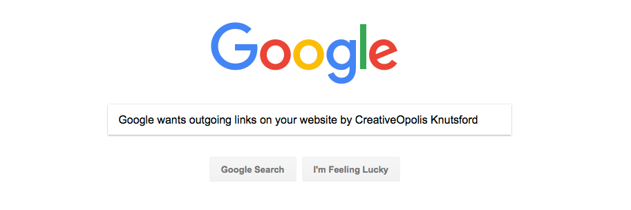 Google Wants Outgoing Links on Your Website
