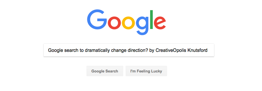 Google Search to Dramatically Change One Direction?
