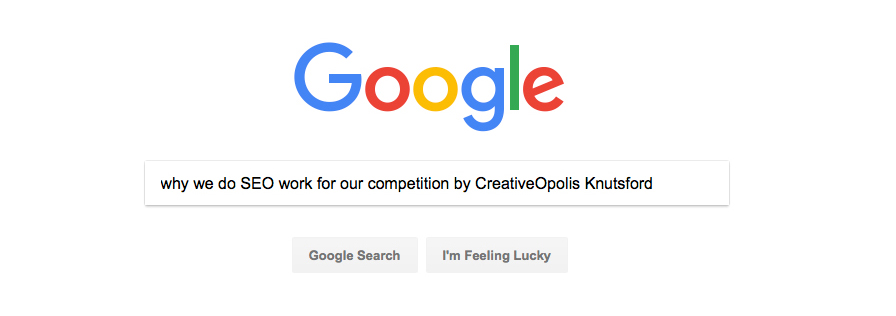 Why we do SEO work for our Competition